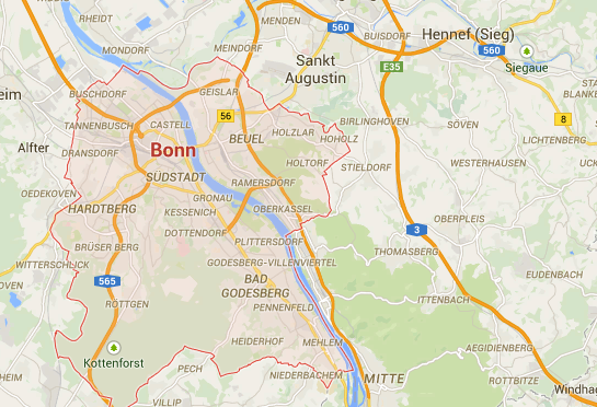 Google Maps Route zum Coaching-Raum